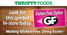 Thrifty Foods Gluten-Free Shelf Tag