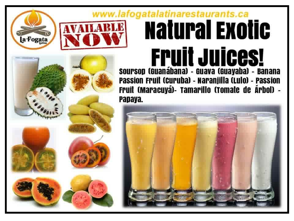 Exotic Juices from Columbia