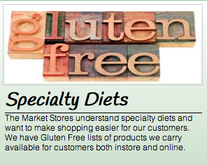 gluten-free diet shopping list