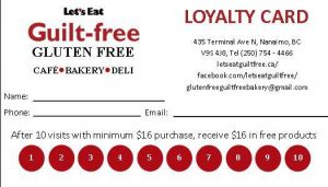 Let's Eat Guilt Free Loyalty Card