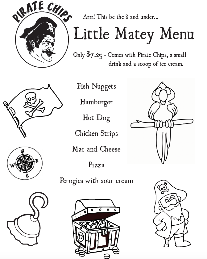 Little Matey Menu