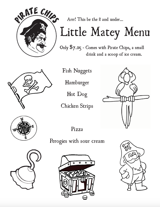 Little Matey's Menu