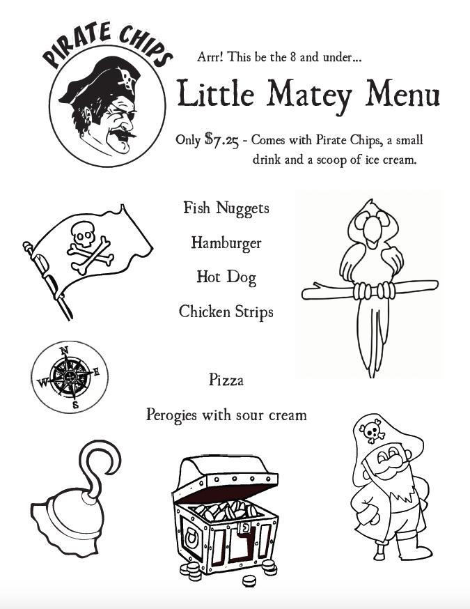 Little Matey's Menu