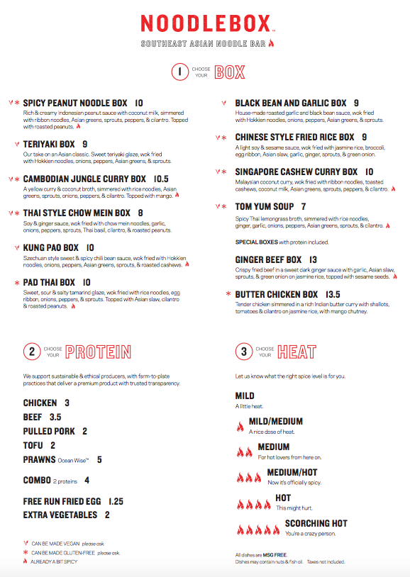 Noodle Box Menu A FEB 2017