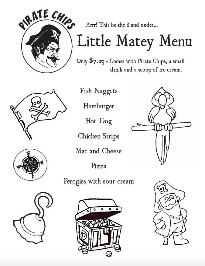 Gluten-Free Menu Pirate Chips