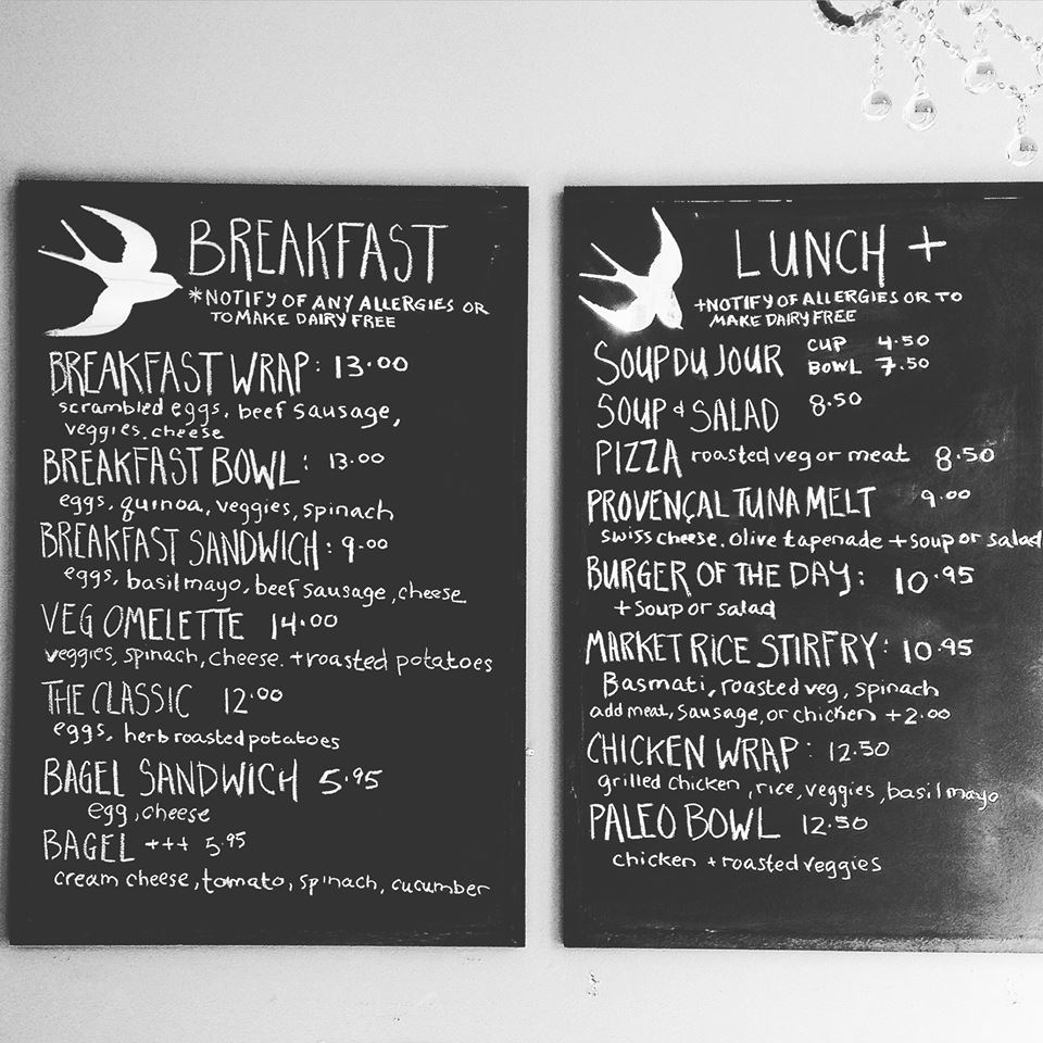 Sante Breakfast Lunch Menu