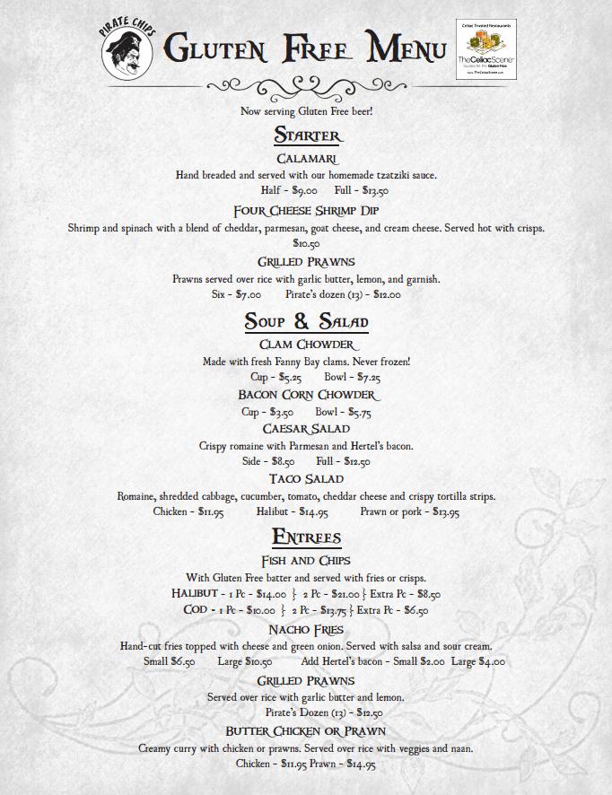 gluten free menu 2