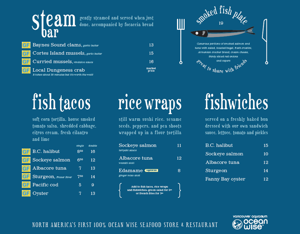 gluten free menu floating fish store 2