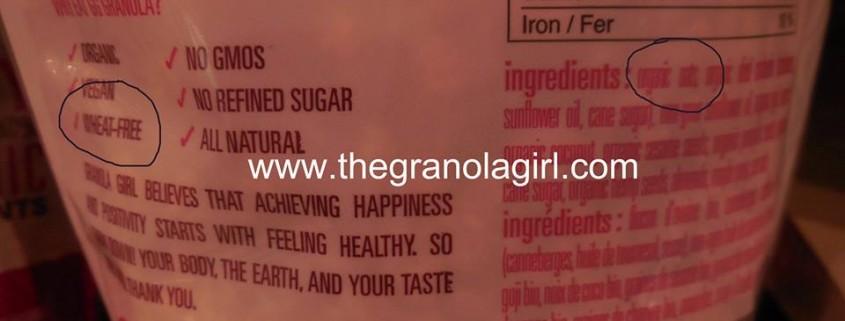 granola girl not gluten free