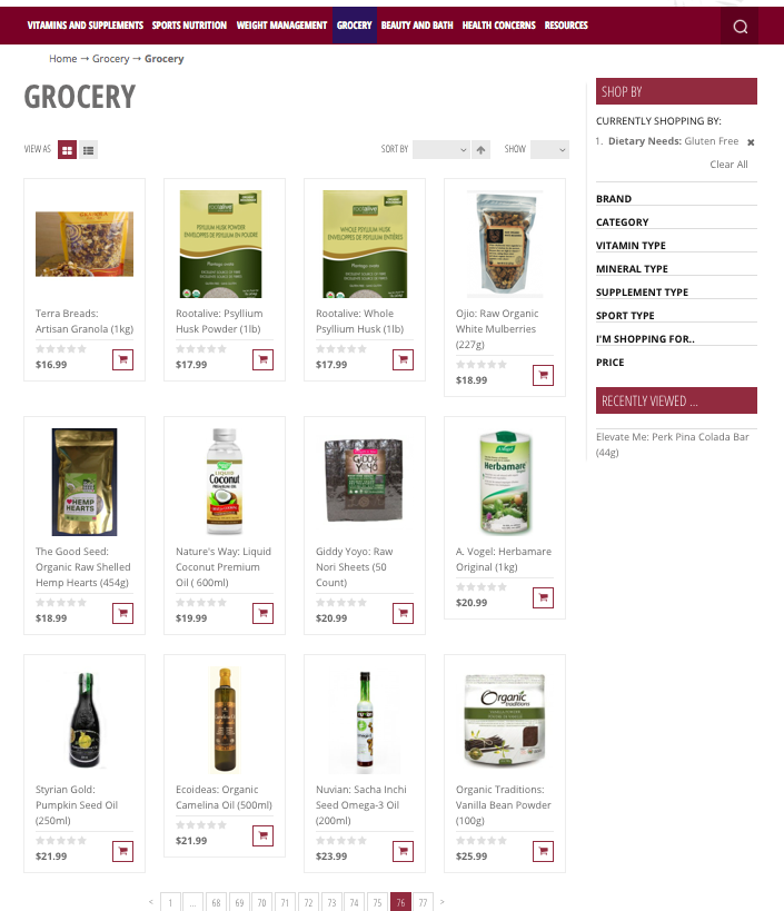 Gluten Free Product LIst