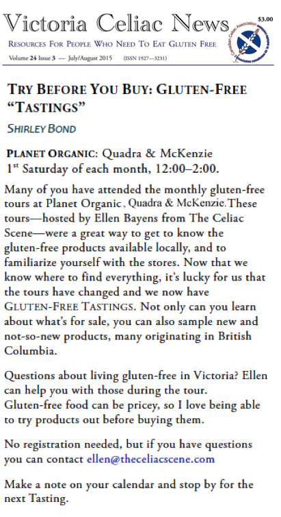 gluten free tasting