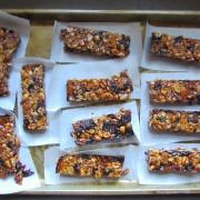 cherry vegan oat nut bar