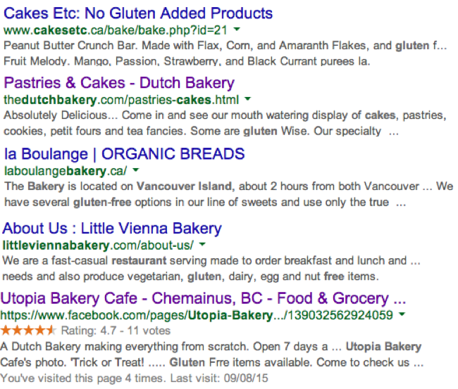 Wheat Bakeries advertising gluten free