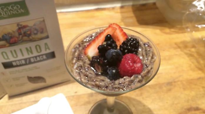 Vegan, gluten free quinoa pudding