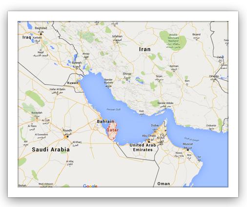 map Qatar
