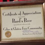 Bard's Beer Certificate