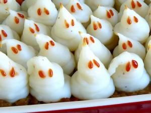gluten free recipe Mashed Potato Ghosts