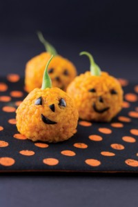 Gluten Free Rice-Ball-Jack-o-Lanterns