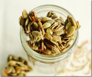 gluten free recipe maple cinnamon pumpkin seeds