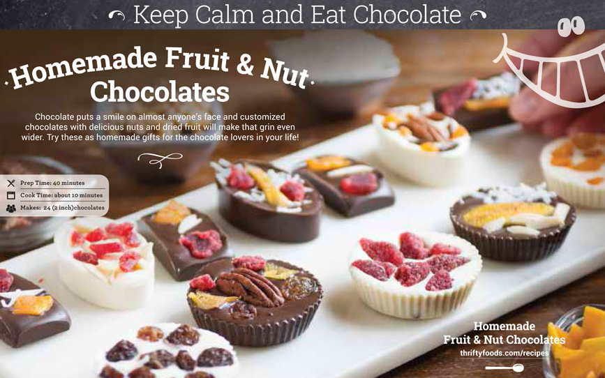 Gluten free fruit and nut chocolates