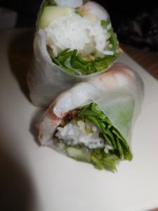 gluten free prawn spring rolls