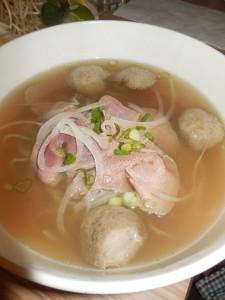 gluten free rice noodle soup
