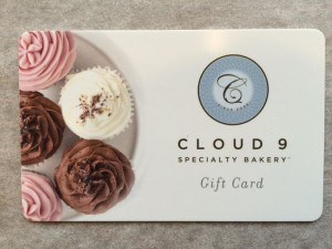 Cloud 9 Gift Certificates