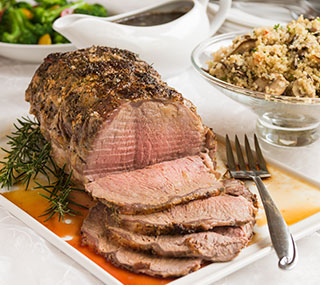 Roast Strip Loin with Quinoa Pilaf
