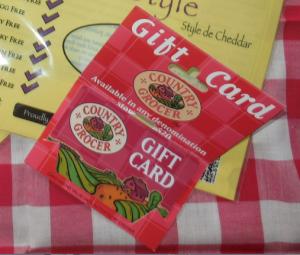 gluten free gift card