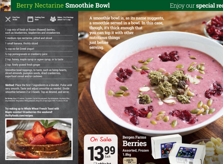 gluten free Berry Nectarine Smoothie Bowl