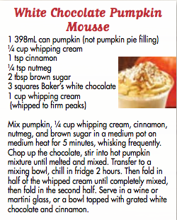 Chocolate Pumpkin Mousse