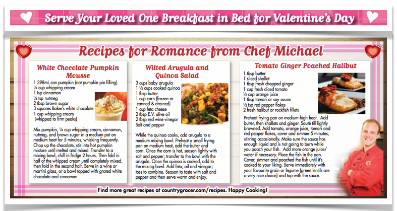 GF recipes country grocer