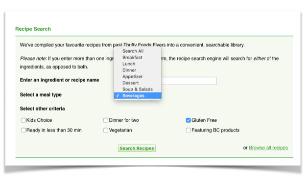 gluten free recipe file