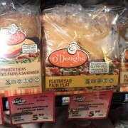 O'Dough's flatbread sandwich thins