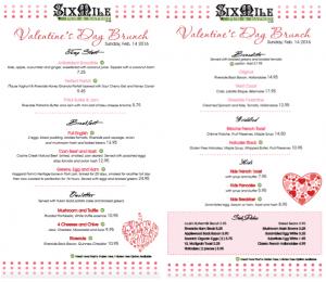 Six Mile Pub's Valentine's Day Brunch