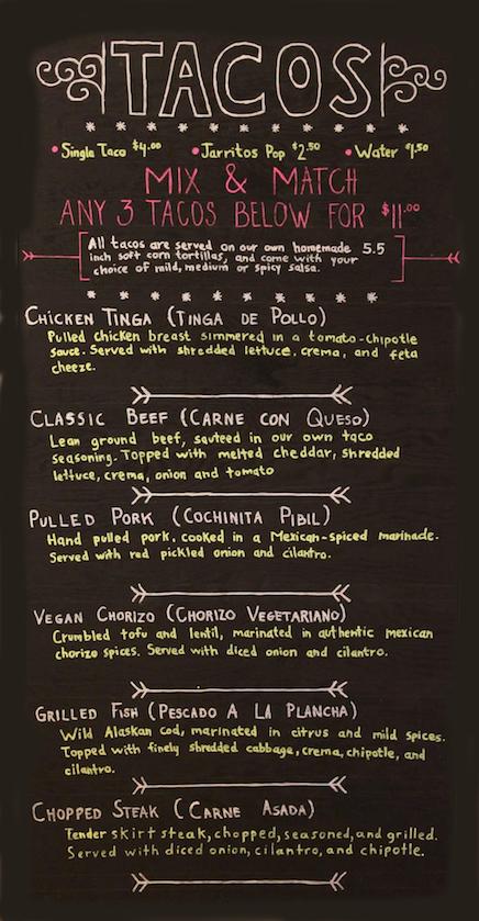 Taco Revolution Gluten-Free Menu