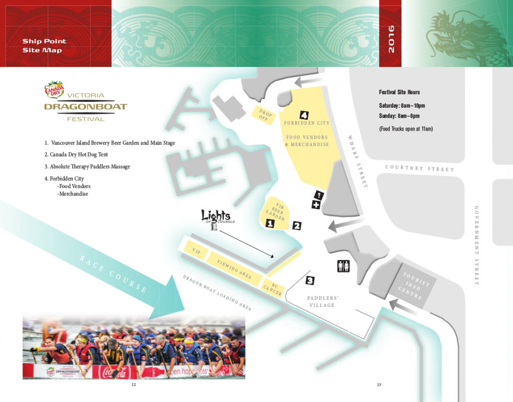 Victoria Dragon Boat Festival Map