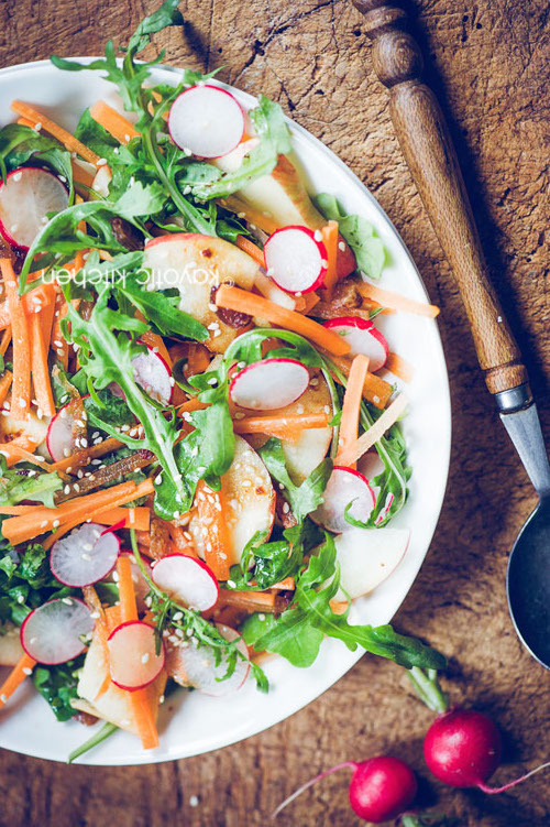 Apple Carrot Radish Salad