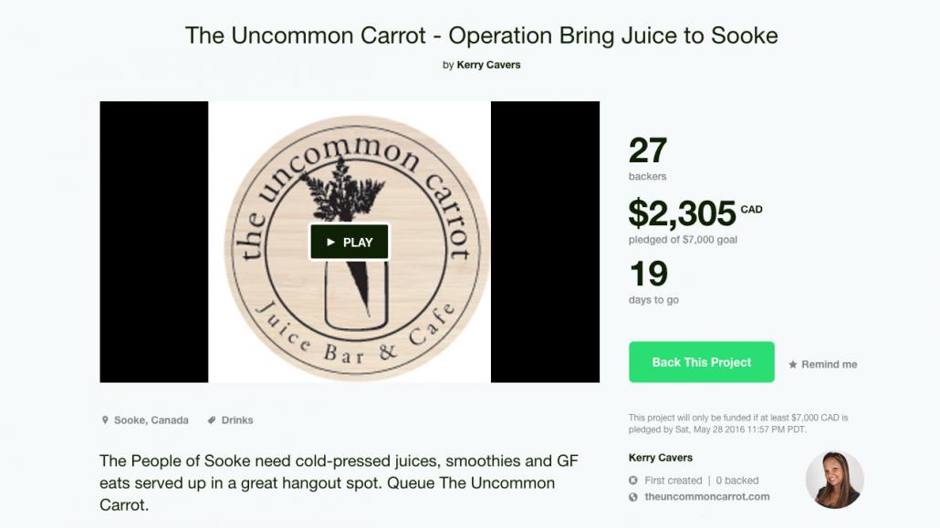 Uncommon Carrot Kickstarter Campaign