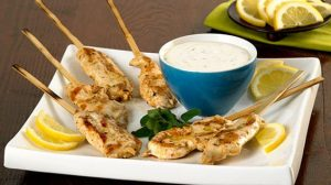 Gluten Free Greek-style Chicken Skewers
