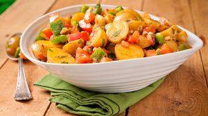 Gluten Free Mediterranean Style Warm Potato Salad