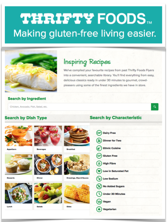 Thrifty Foods gluten free recipes