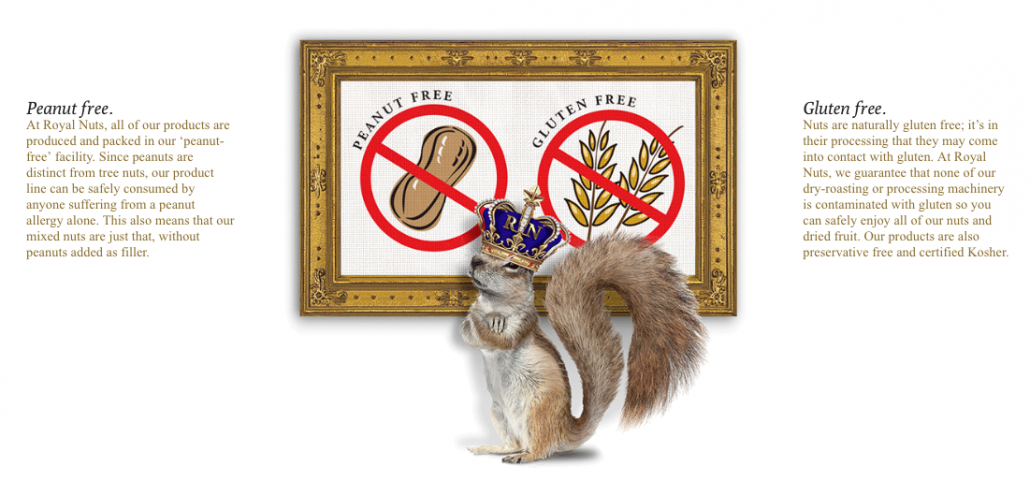 gluten free peanut free nuts