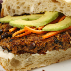 Gluten Free Chipotle Black Bean Burger