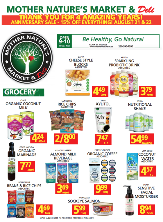 Mother Nature's Anniversary Sale