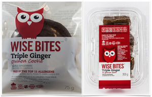 Wise Bites Triple Ginger Cookies Bars