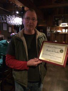Certificate of Appreciation.