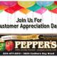 Pepper's Customer Appreciation Day