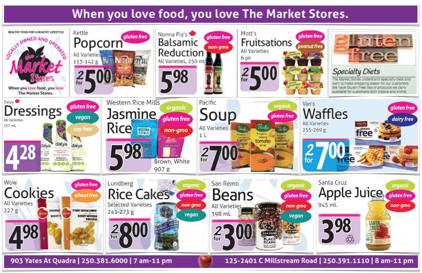 The Market Stores Gluten Free Flyer