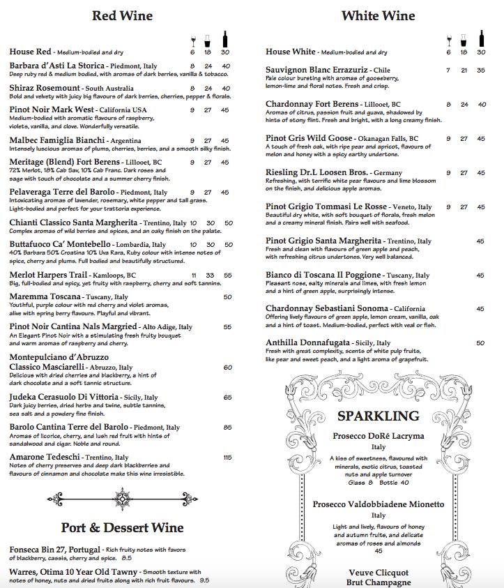 il trattoria gluten-free menu 3